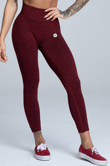 Gym Glamour Leggings Seamless Bordo Melange