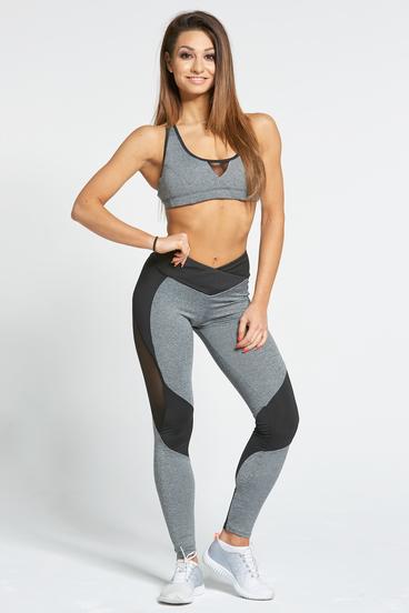 Gym Glamour Leggings Sexy Black & Grey