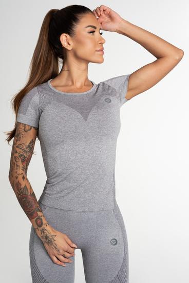 Gym Glamour T-Shirt Seamless Fusion Light Grey
