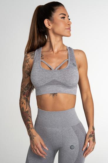 Gym Glamour Seamless Bra Fusion Light Grey