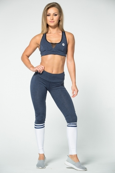 Gym Glamour Leggings Blue Melange & Socks