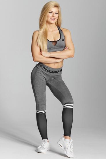 Gym Glamour Leggings Grey & Black Socks