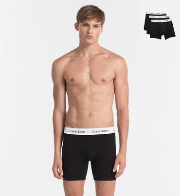 Calvin Klein 3Pack Boxerky Dlouhé Black