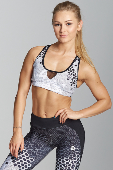 Gym Glamour Bra White Honey Combs