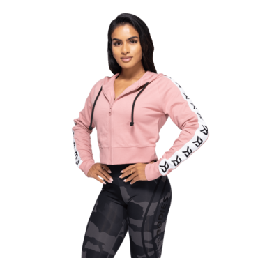 Better Bodies Cropped Hood Vesey Heather Pink