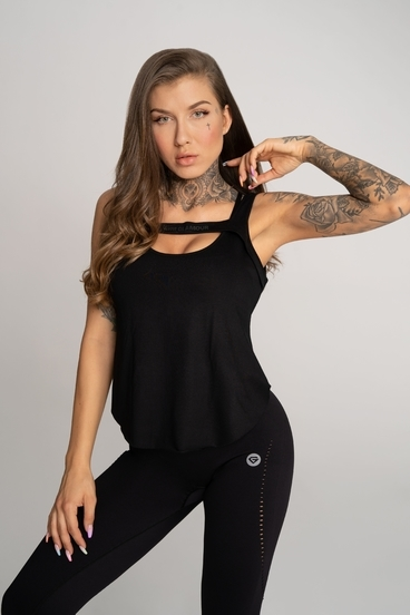 Gym Glamour Top Deynn Black