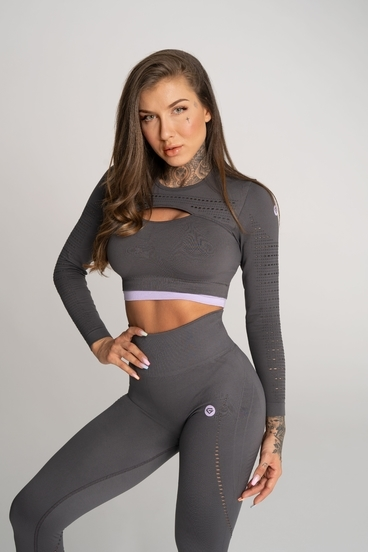 Gym Glamour Crop Top Deynn Grey