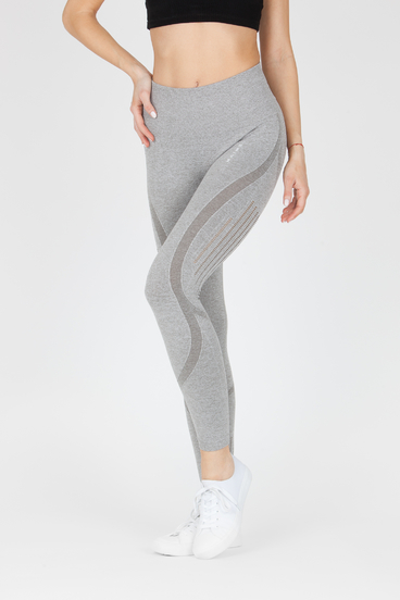 Naine 4.0. Seamless Leggings Stripes - Grey