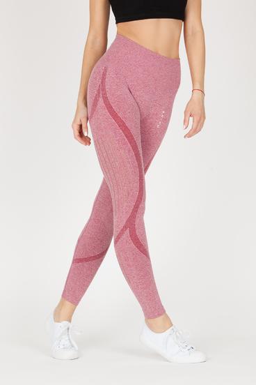 Naine 4.0. Seamless Leggings Stripes - Pink
