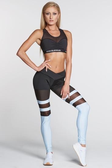 Gym Glamour Leggings Mesh & Blue Socks