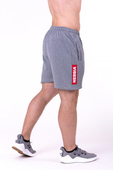 Nebbia Short 152 Red Label Men Grey