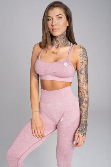Gym Glamour Bra Seamless Pink Melange
