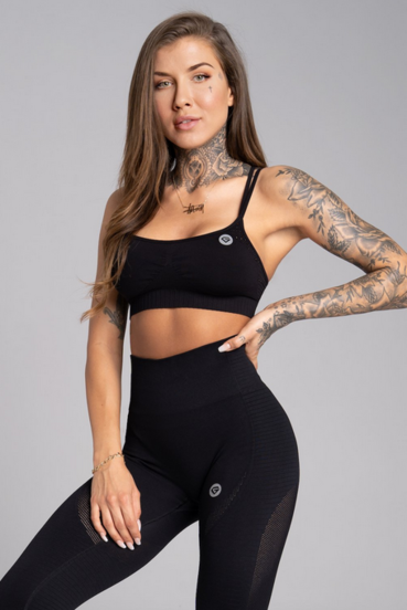 Gym Glamour Bra Seamless Black