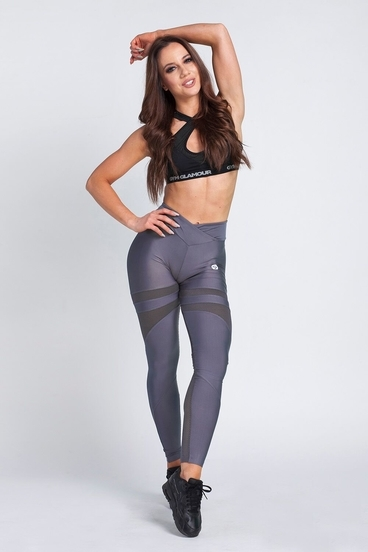 Gym Glamour Leggings Granite Grey Mesh