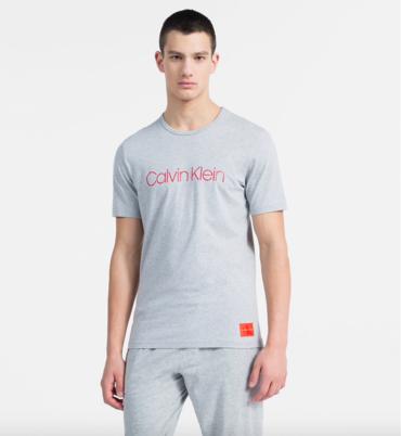 Calvin Klein Tričko Monogram Pánské Šedé