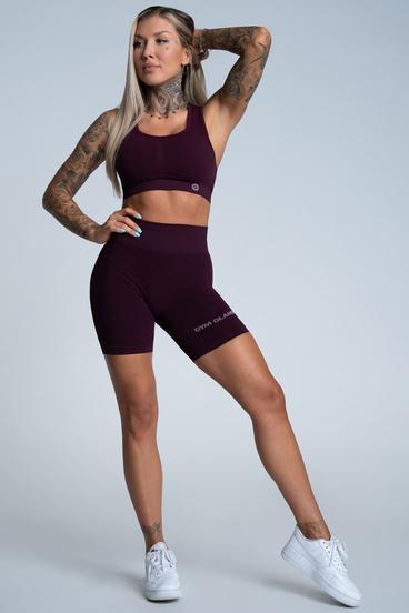 Gym Glamour Shorts Bikery Push Up Grape