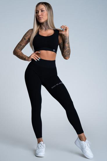 Gym Glamour Leggings Push Up Deep Black