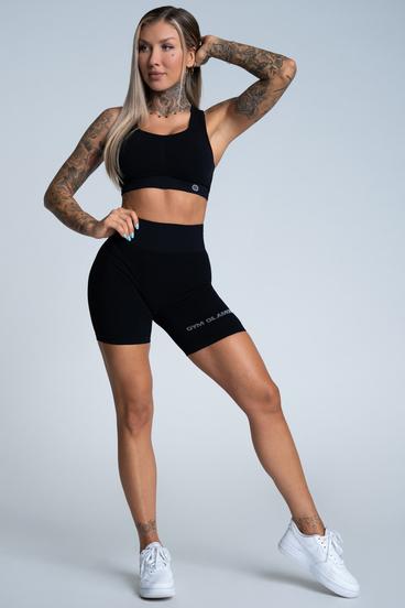 Gym Glamour Shorts Bikery Push Up Deep Black