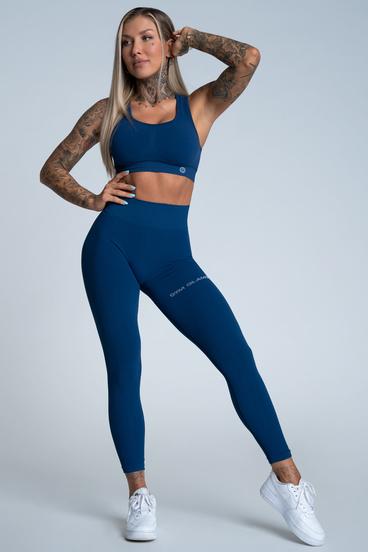 Gym Glamour Leggings Push Up Classic Blue