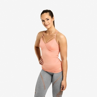 Better Bodies Waverly Strap Top Peach