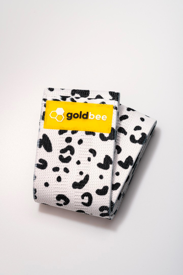GoldBee Textile Band - White Leopard