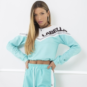 Labella SweatshirtTurquoise/White