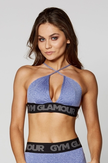 Gym Glamour Bra Purple Sexy String