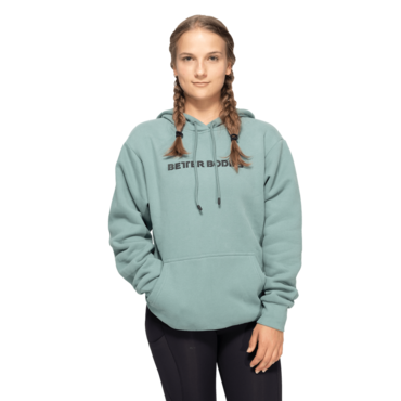 Better Bodies Logo Hoodie Light Teal Green