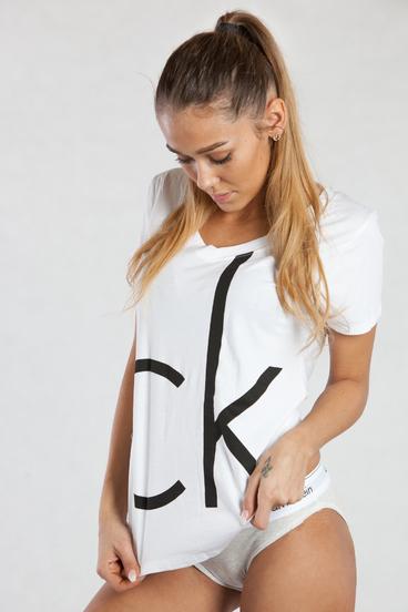 Calvin Klein Dámské Tričko Bílé CK