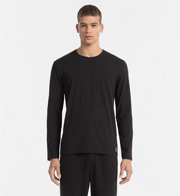 Calvin Klein Tričko S Dlouhým Rukávem Černé