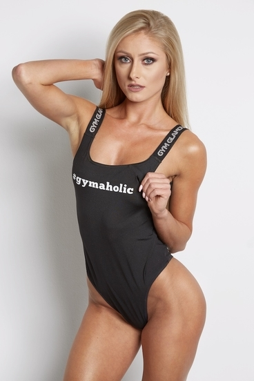 Gym Glamour Body Suit Black