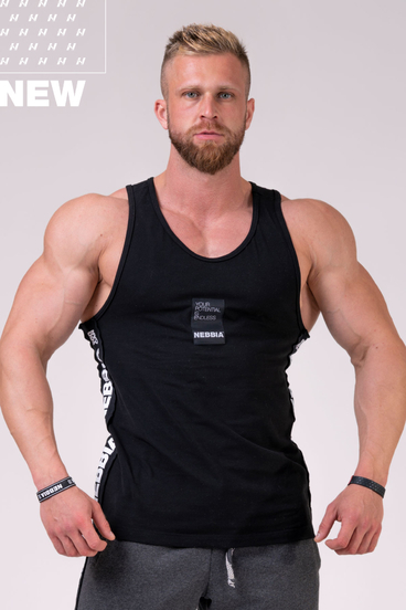 """Nebbia Tank 174 """"Your potential is endless."""" - Black"""