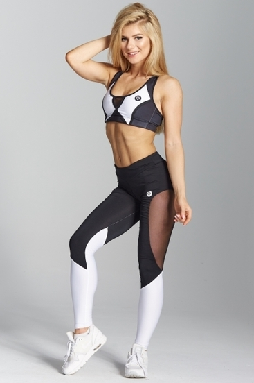 Gym Glamour Leggings Black&White