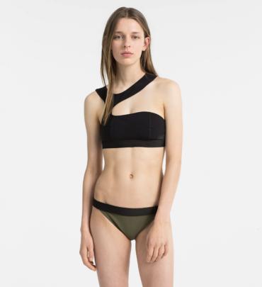 Calvin Klein Plavky Open Cut Black Vrchní Díl