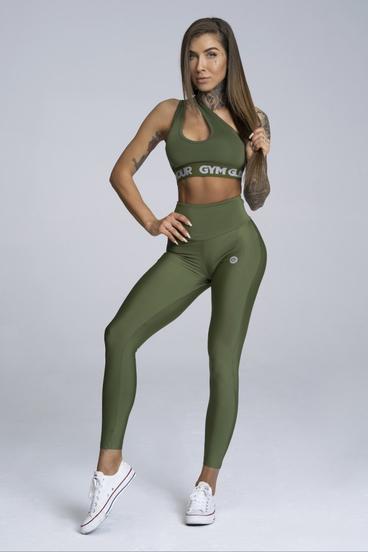 Gym Glamour Leggings High Waist Khaki