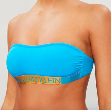 Calvin Klein Plavky Core Icon Maldive Blue Vrchní Díl