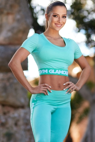 Gym Glamour Crop-Top Pistachio