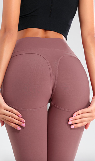 Naine 1.0. Push-up Leggings - Rose