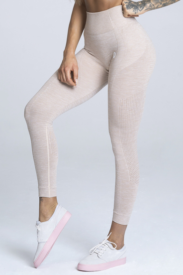 Gym Glamour Leggings Seamless Beige