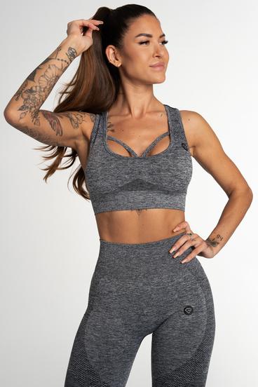 Gym Glamour Seamless Bra Fusion Dark Grey