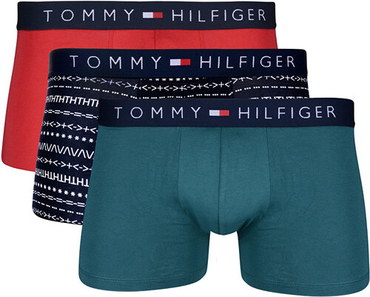 Tommy Hilfiger 3Pack Boxers Shorts Red, Green, Navy