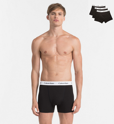 Calvin Klein 3Pack Boxerky Black