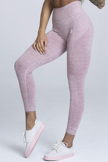 Gym Glamour Seamless Leggings Pink Melange