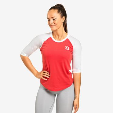 Better Bodies T-shirt Baseball Tee Raspberry