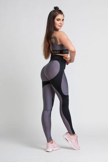 Gym Glamour Leggings By Julia Black & Grey