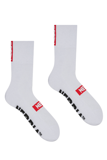 "Nebbia Socks 103 ""EXTRA MILE"" Crew White"