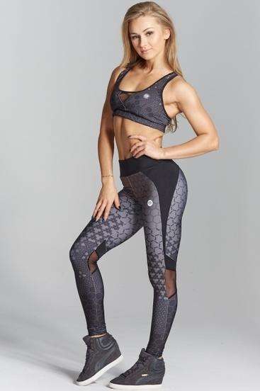 Gym Glamour Leggings Dark Honey Combs