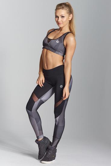 Gym Glamour Leggings Grey Geometry