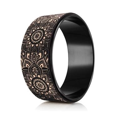 Yoga Design Lab Cork Yoga Wheel - Mandala Black