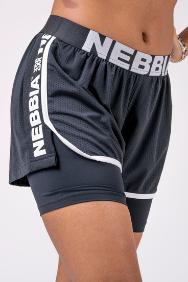 Nebbia Shorts 527 Fast&Furious Double Layer - Black